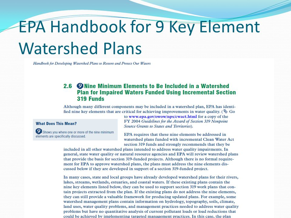 EPA Handbook for 9 Key Element Watershed Plans