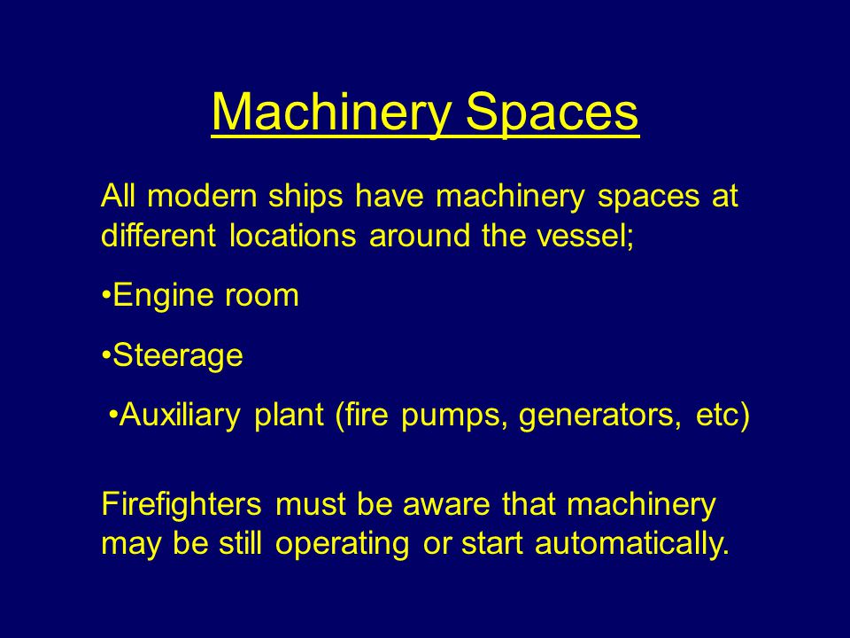 Machinery Spaces.