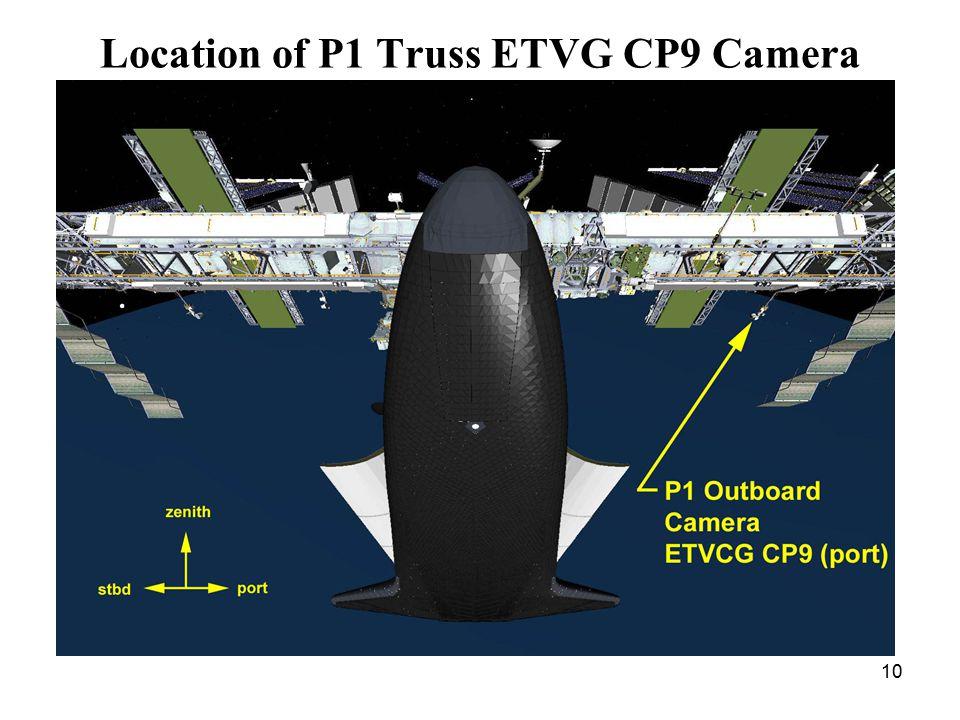 10 Location of P1 Truss ETVG CP9 Camera