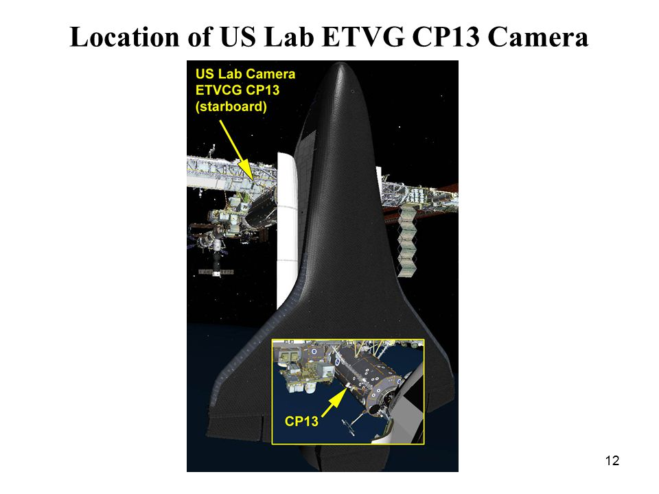 12 Location of US Lab ETVG CP13 Camera