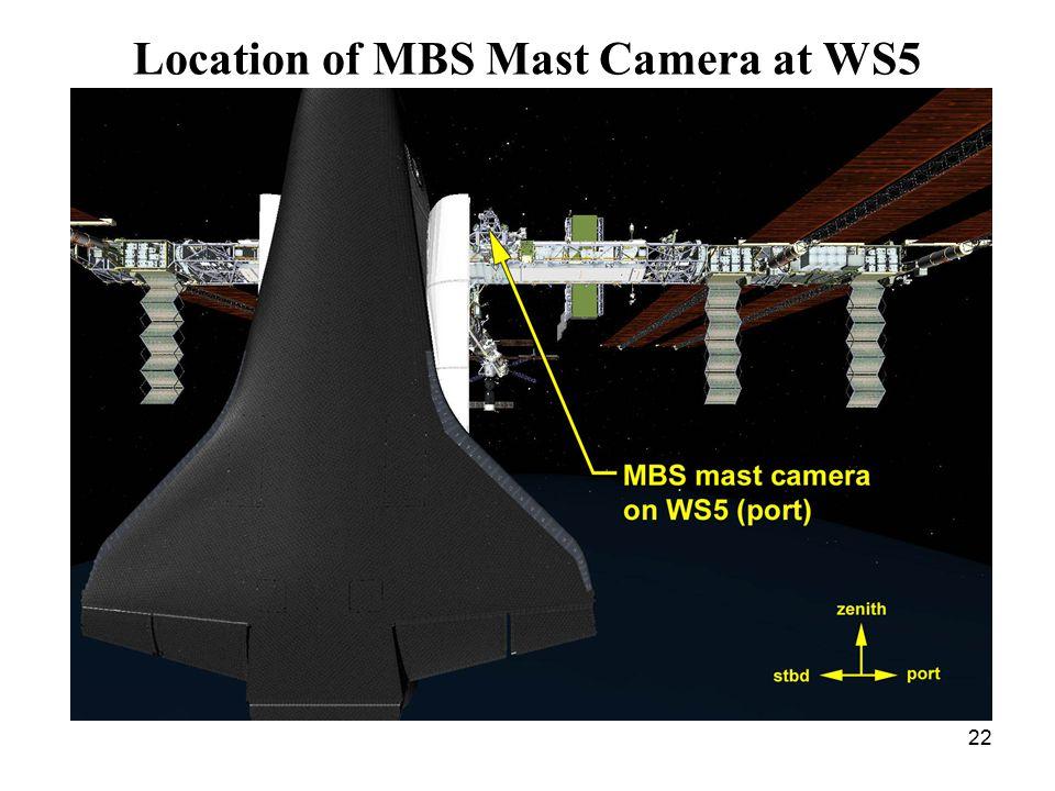 22 Location of MBS Mast Camera at WS5