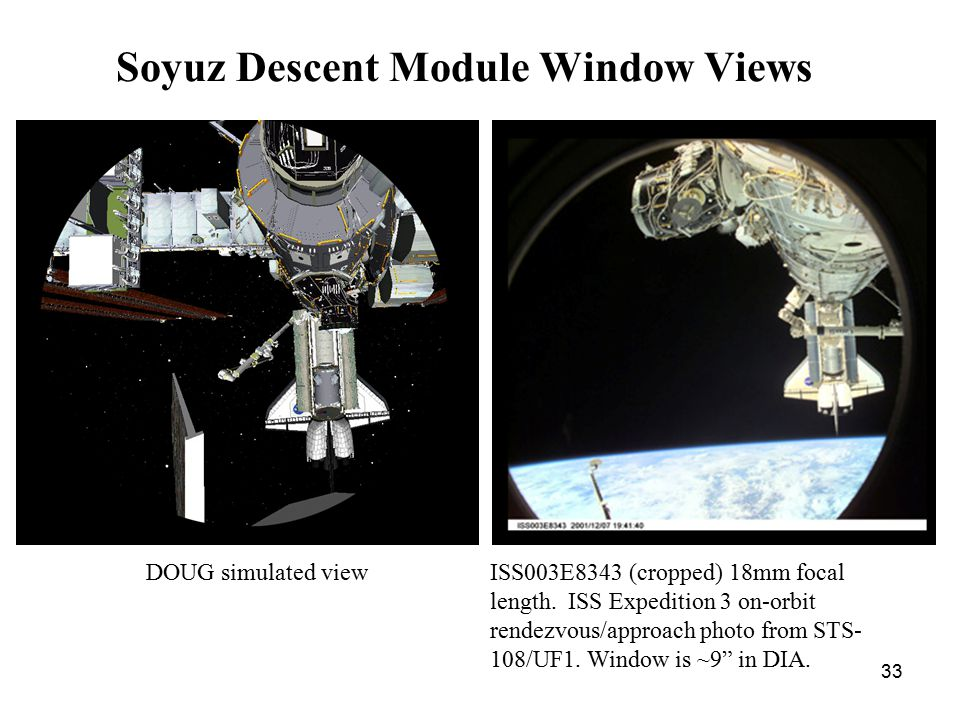 33 Soyuz Descent Module Window Views ISS003E8343 (cropped) 18mm focal length.