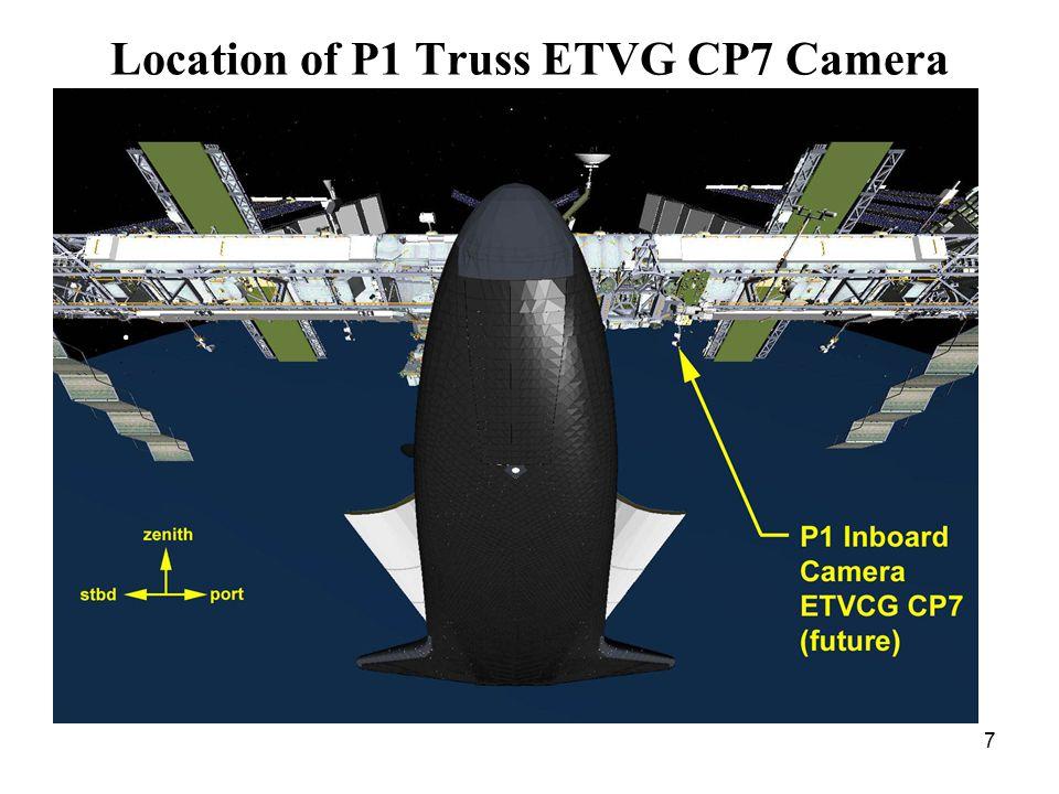 7 Location of P1 Truss ETVG CP7 Camera