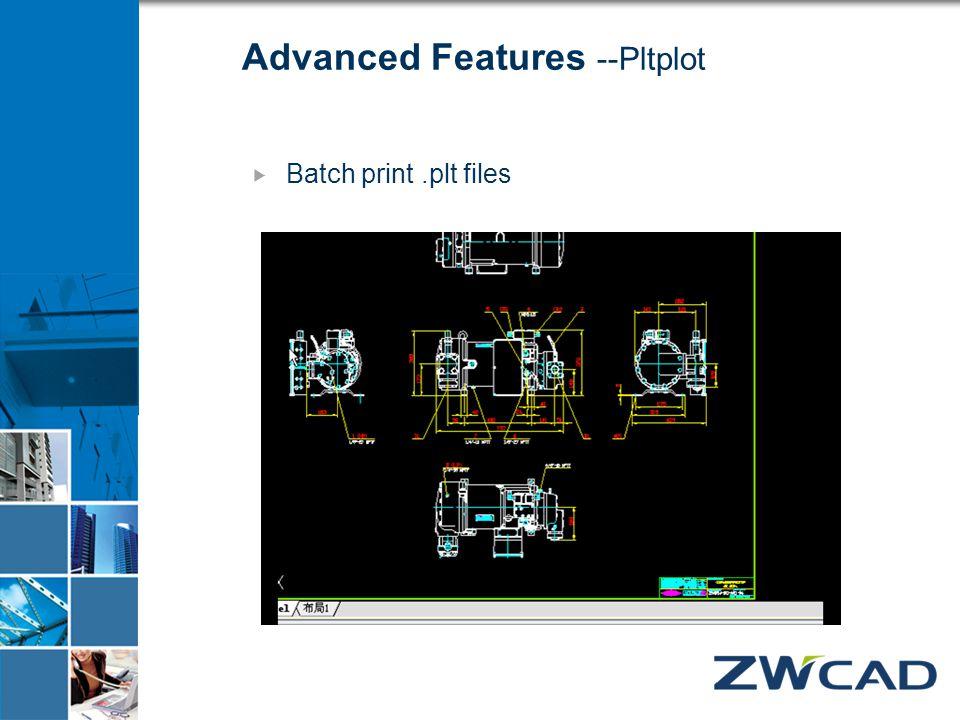 Advanced Features --Pltplot  Batch print.plt files