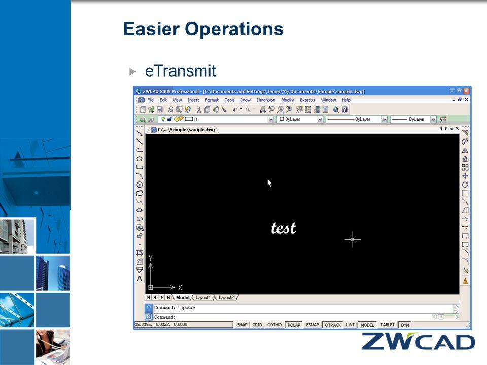 Easier Operations  eTransmit