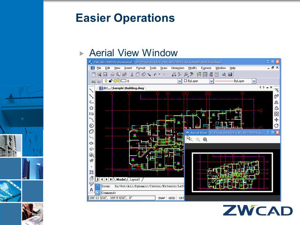 Easier Operations  Aerial View Window