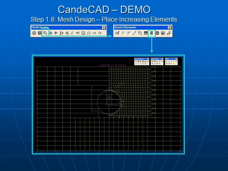 CandeCAD – DEMO Step 1.9: Mesh Design – Hatch Mesh to Show Missing Elements