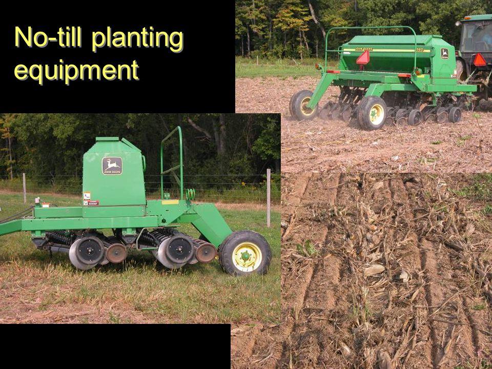 No-till planting equipment