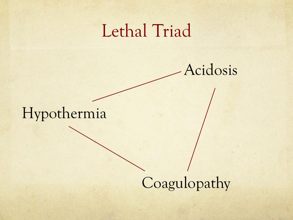 Proactive early treatment to address the lethal triad (by rapid reversal of acidosis, prevention of hypothermia and coagulopathy) on admission to combat hospital.