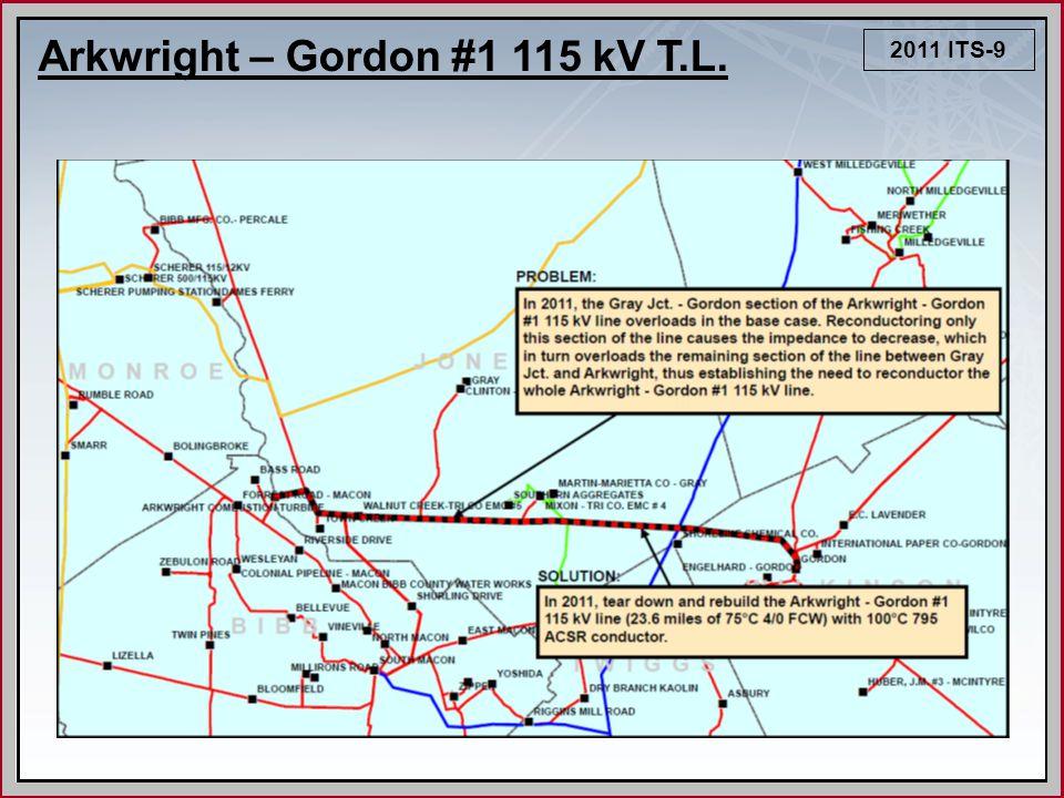 2011 ITS-9 Arkwright – Gordon #1 115 kV T.L.