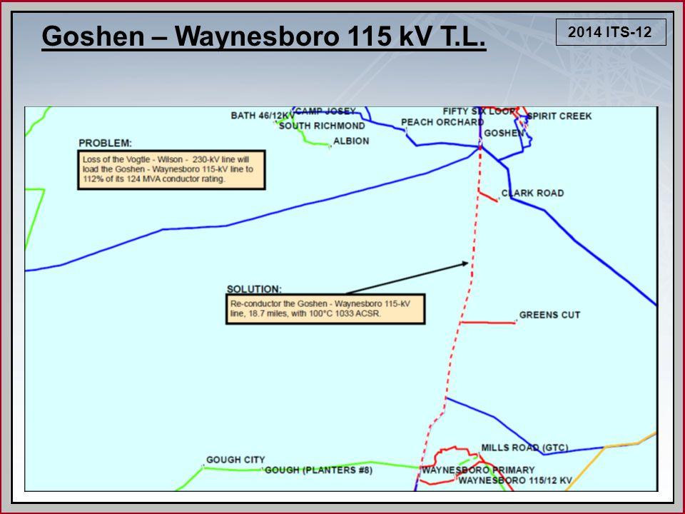 2014 ITS-12 Goshen – Waynesboro 115 kV T.L.