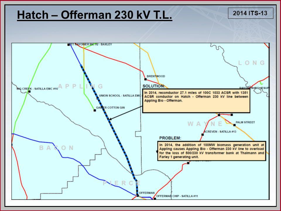 2014 ITS-13 Hatch – Offerman 230 kV T.L.