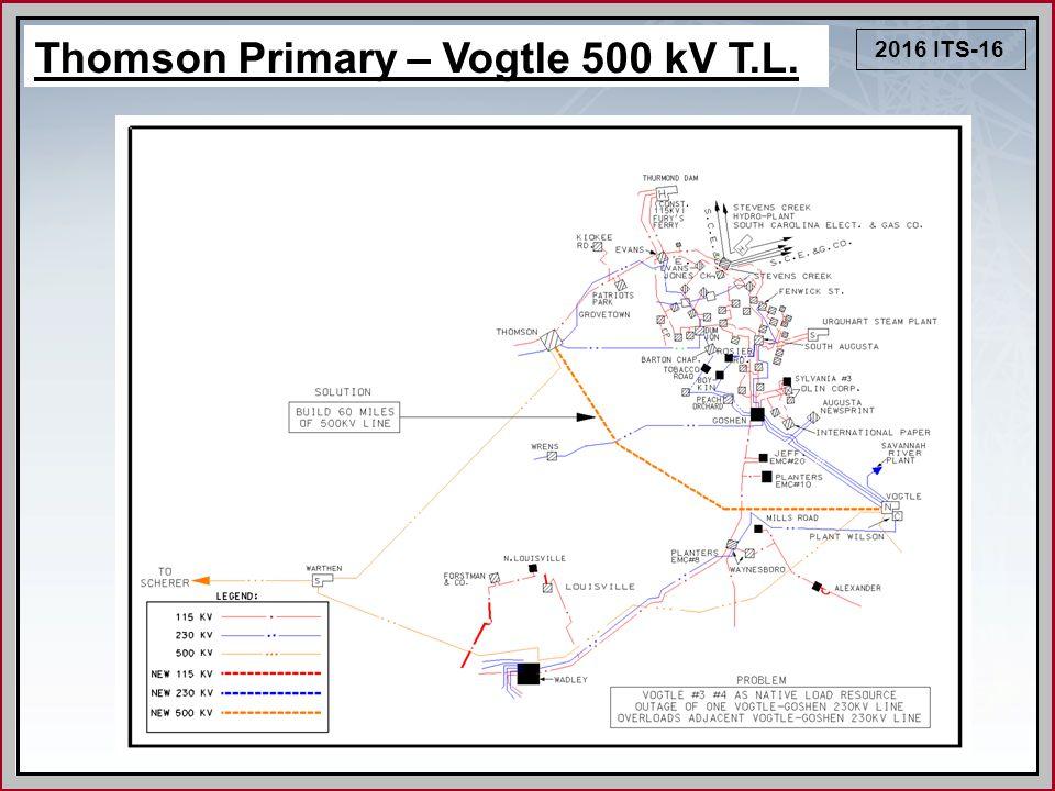 2016 ITS-16 Thomson Primary – Vogtle 500 kV T.L.
