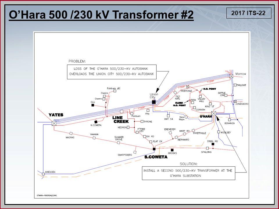 2017 ITS-22 O'Hara 500 /230 kV Transformer #2