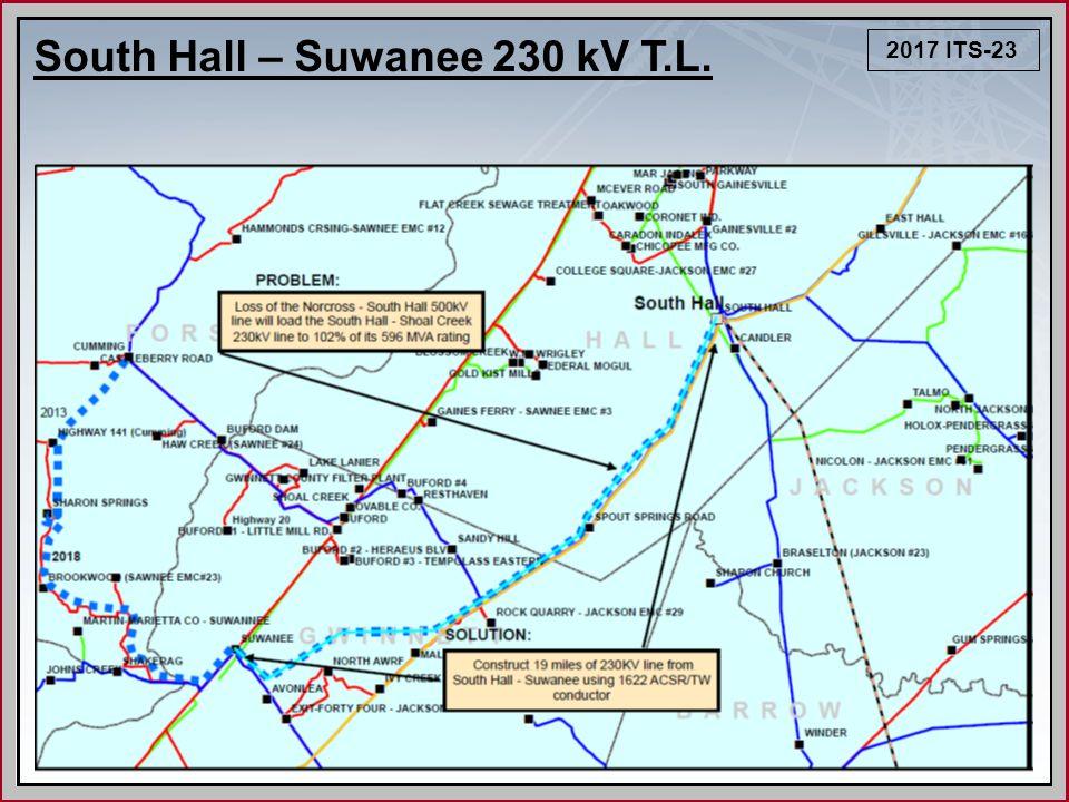 2017 ITS-23 South Hall – Suwanee 230 kV T.L.