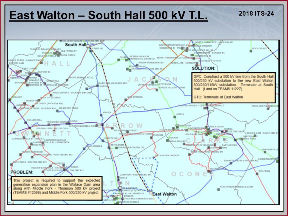 2018 ITS-24 East Walton – South Hall 500 kV T.L.