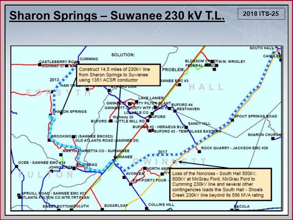 2018 ITS-25 Sharon Springs – Suwanee 230 kV T.L.