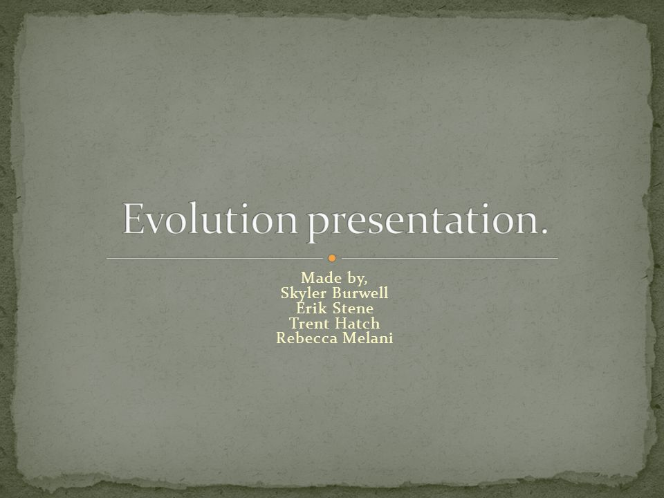 The creation and destruction of species Proof of evolution in fossil records The slow change of old species.