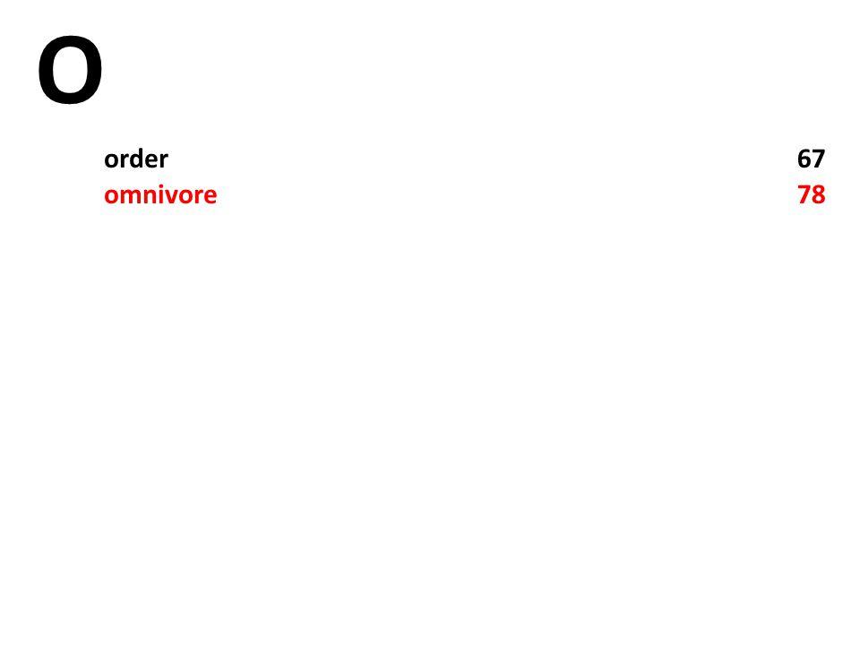 O order67 omnivore78