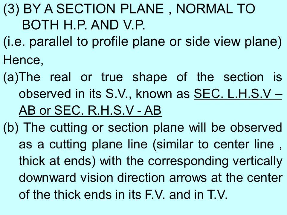 HALF SECTION SPECIAL SECIONS