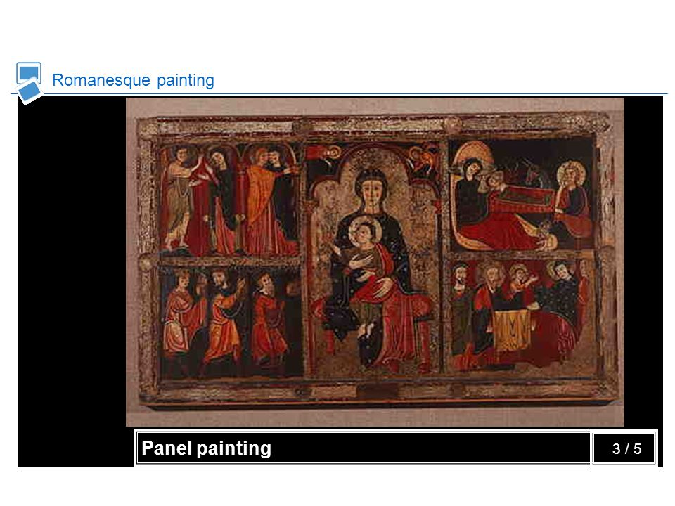 Romanesque painting Panel painting 3 / 5