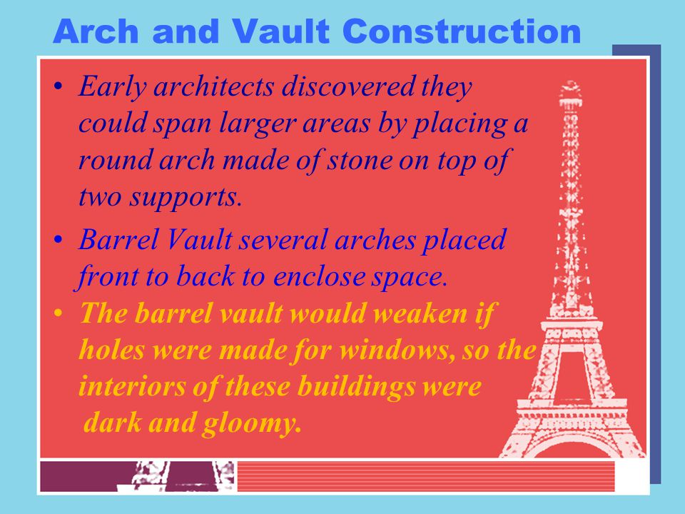 Review facts In what way is the barrel arch an improvement over the post and lintel.