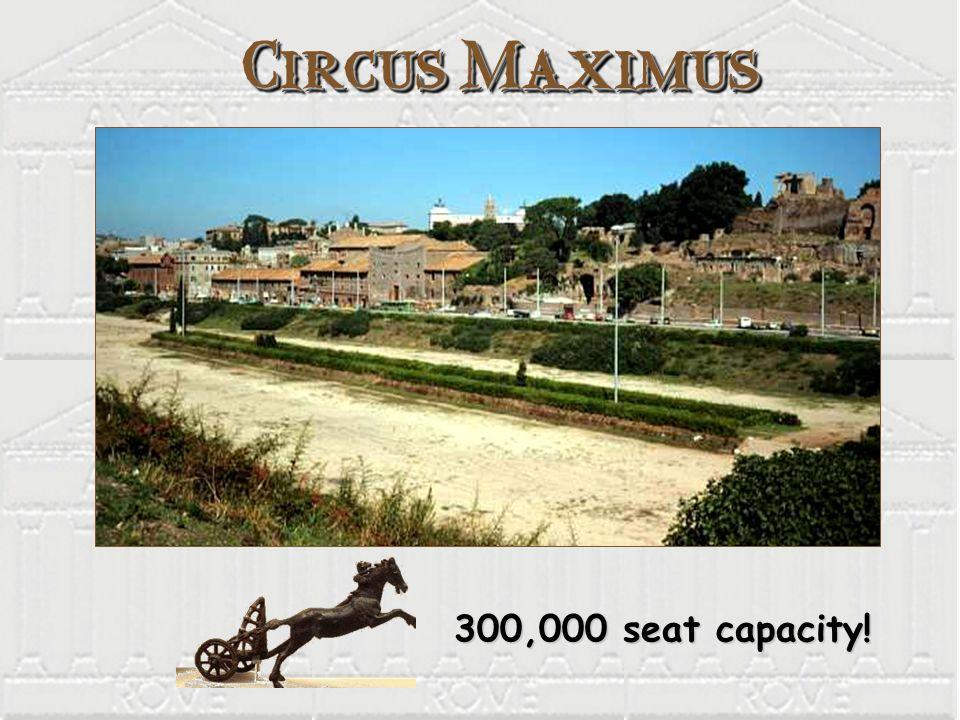 Circus Maximus 300,000 seat capacity! 300,000 seat capacity!