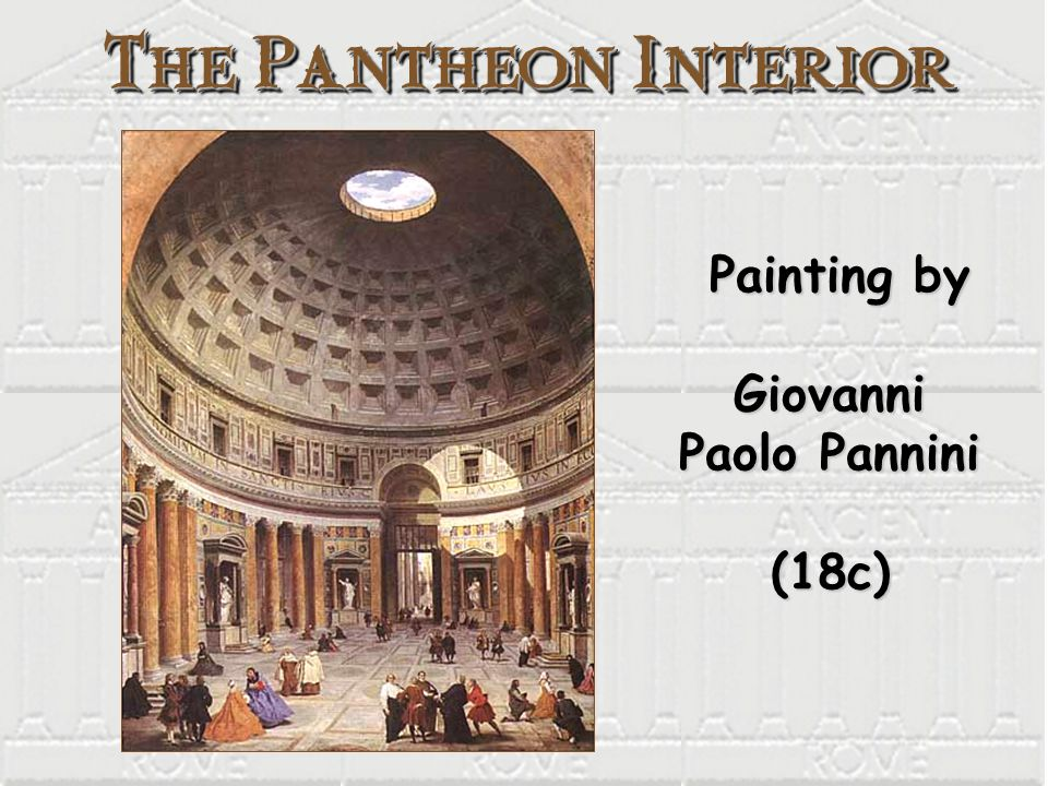 Painting by Giovanni Paolo Pannini (18c) Painting by Giovanni Paolo Pannini (18c)