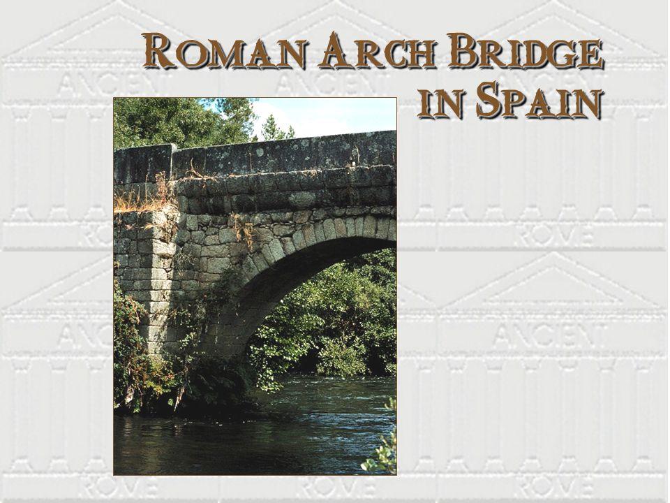 Roman Arch Bridge in Spain