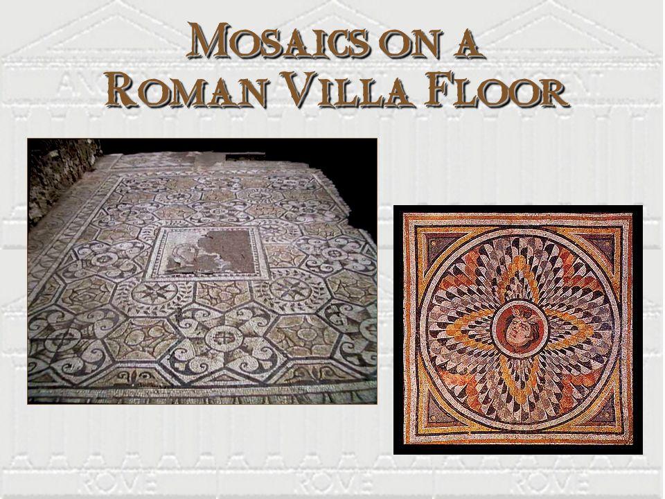 Mosaics on a Roman Villa Floor
