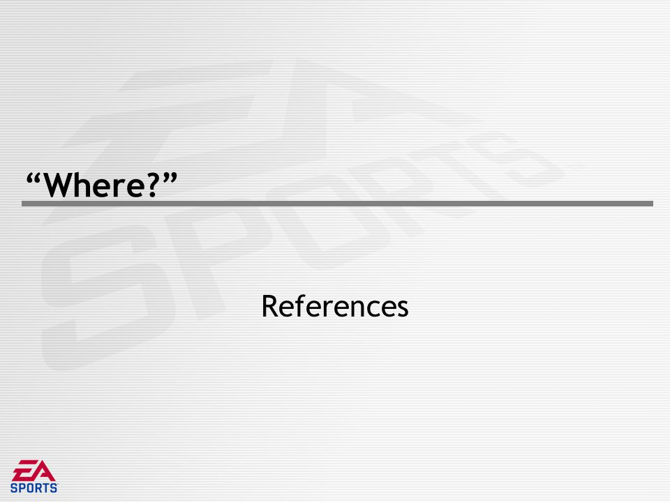 Where? References