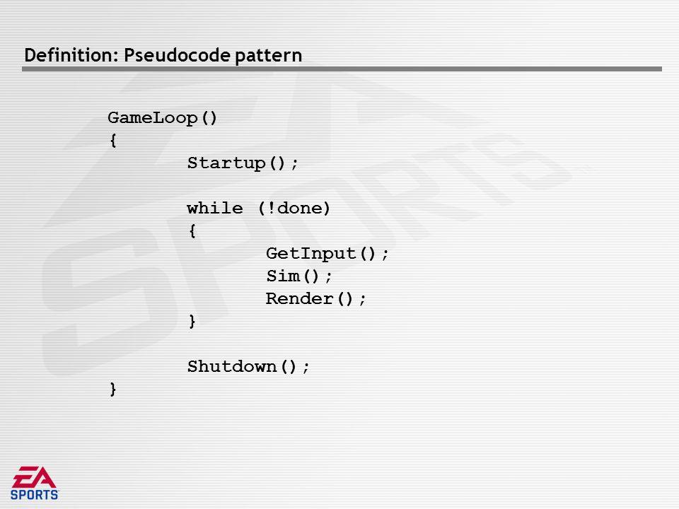Case Study: Madden Xbox vs Madden X360 Render-Audio Sim-Render Sim-Audio Sim-Render Sim-Audio Data Coupling TightLooseNone