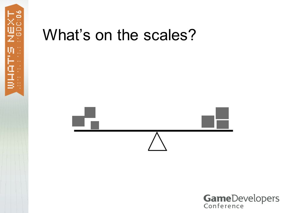 What's on the scales?
