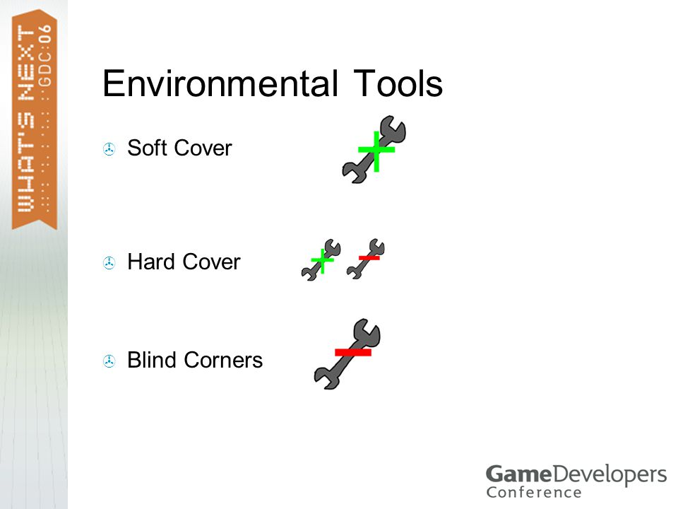 Environmental Tools  Soft Cover  Hard Cover  Blind Corners