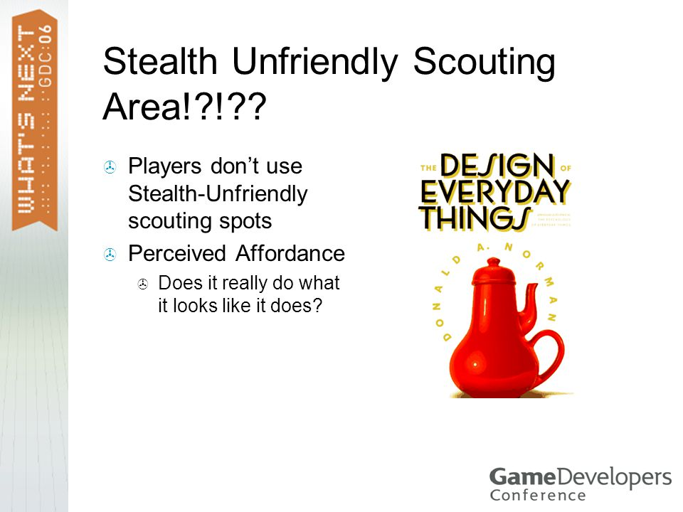 Stealth Unfriendly Scouting Area! ! .