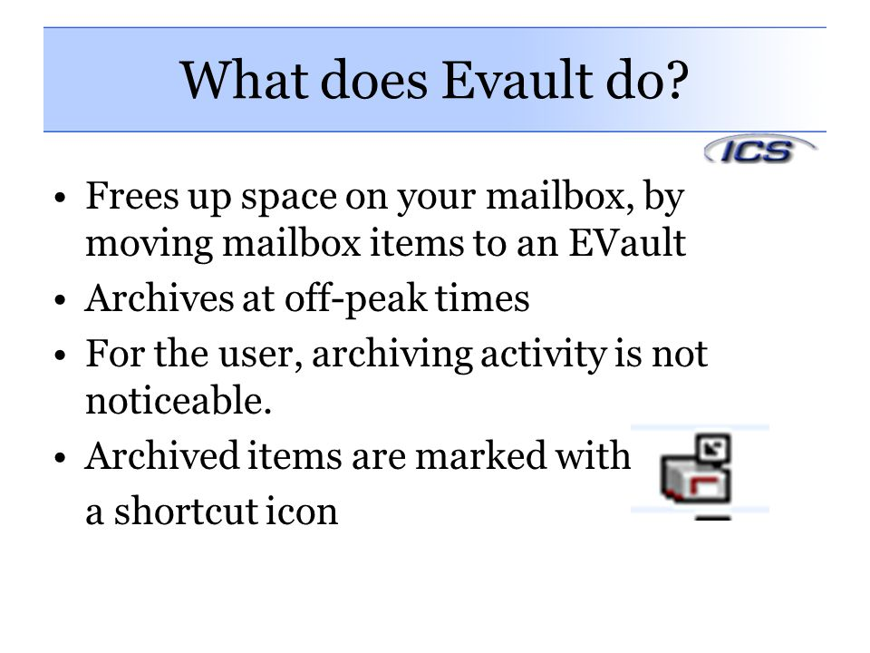 What does Evault do.
