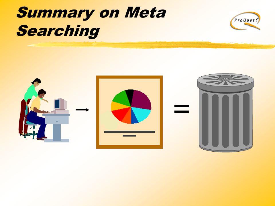 Summary on Meta Searching =