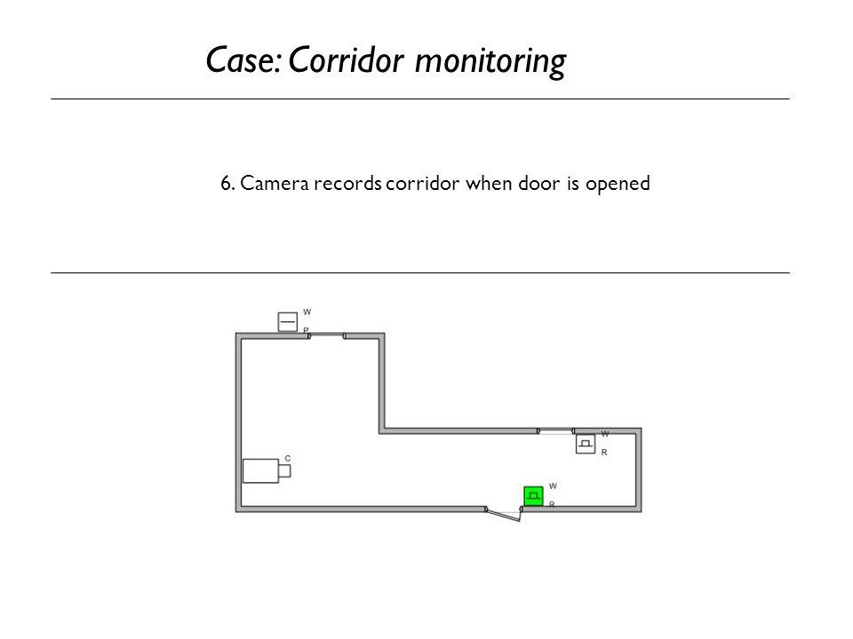 6. Camera records corridor when door is opened Case: Corridor monitoring