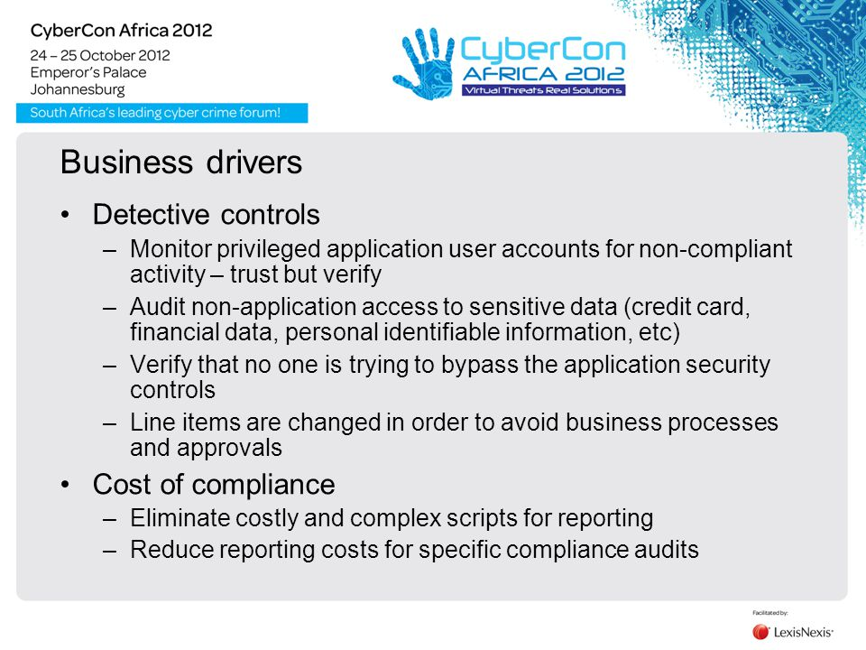 Why Audit.Compliance Mandates It –SOX, PCI-DSS, HIPAA …..
