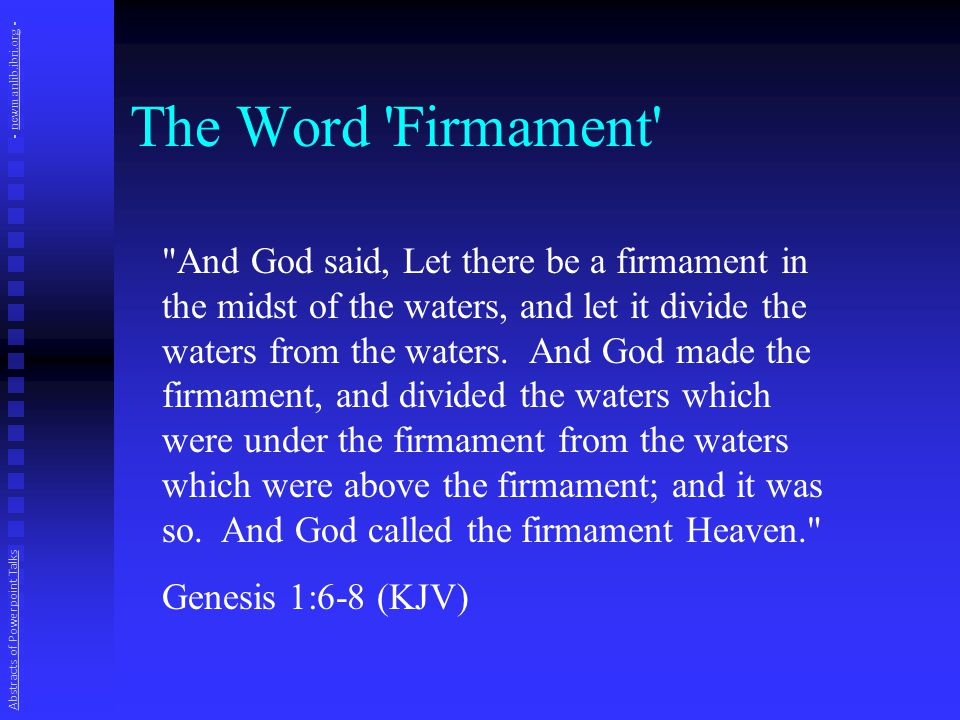 The Word 'Firmament'
