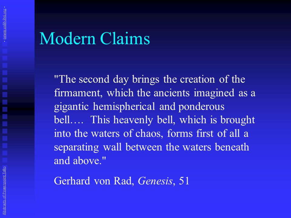 The Word Firmament Our English is borrowed from the Latin Vulgate translation of Jerome, who used firmamentum here.