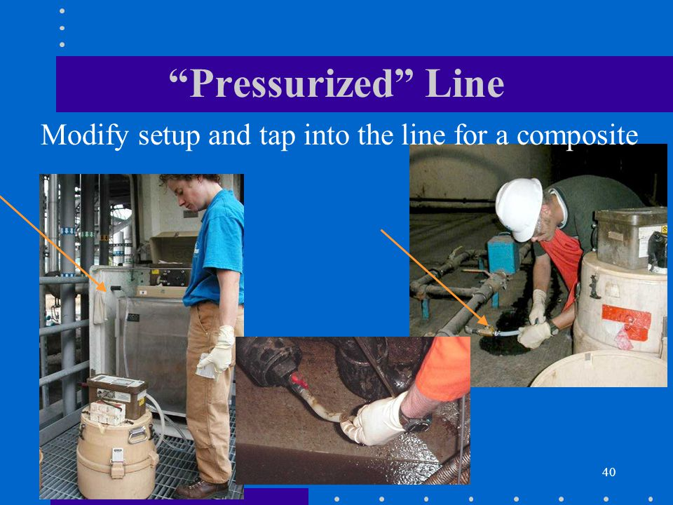 40 Pressurized Line Modify setup and tap into the line for a composite