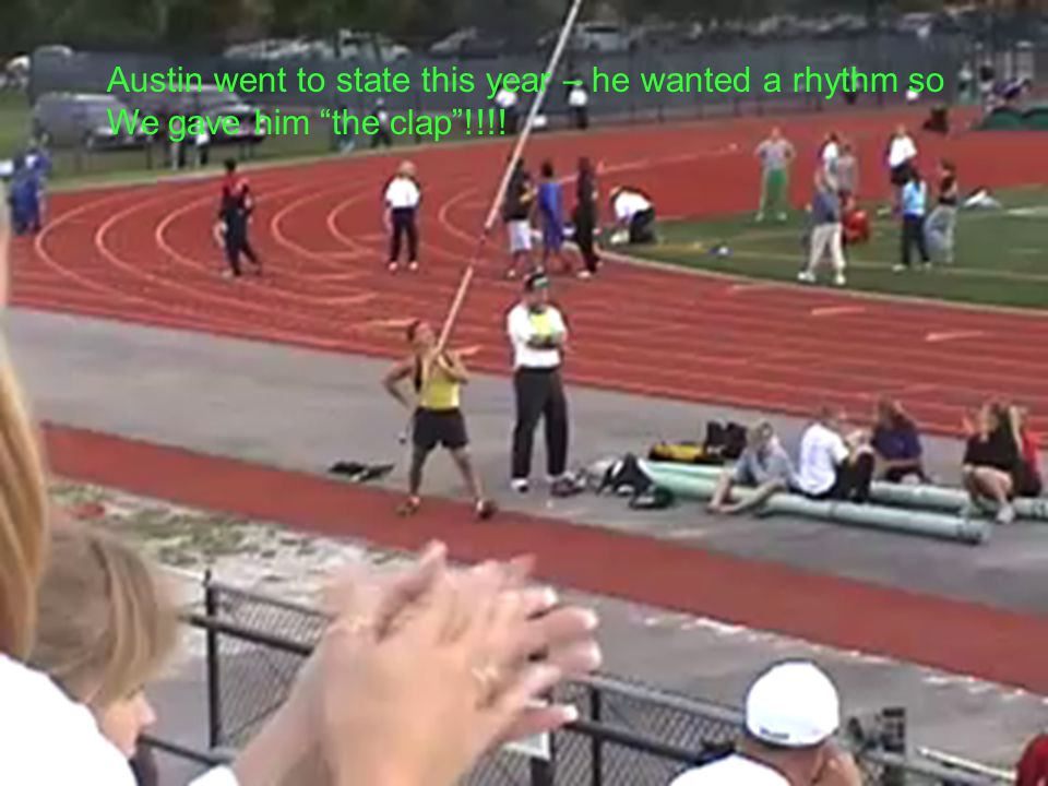"""Austin went to state this year – he wanted a rhythm so We gave him """"the clap""""!!!!"""