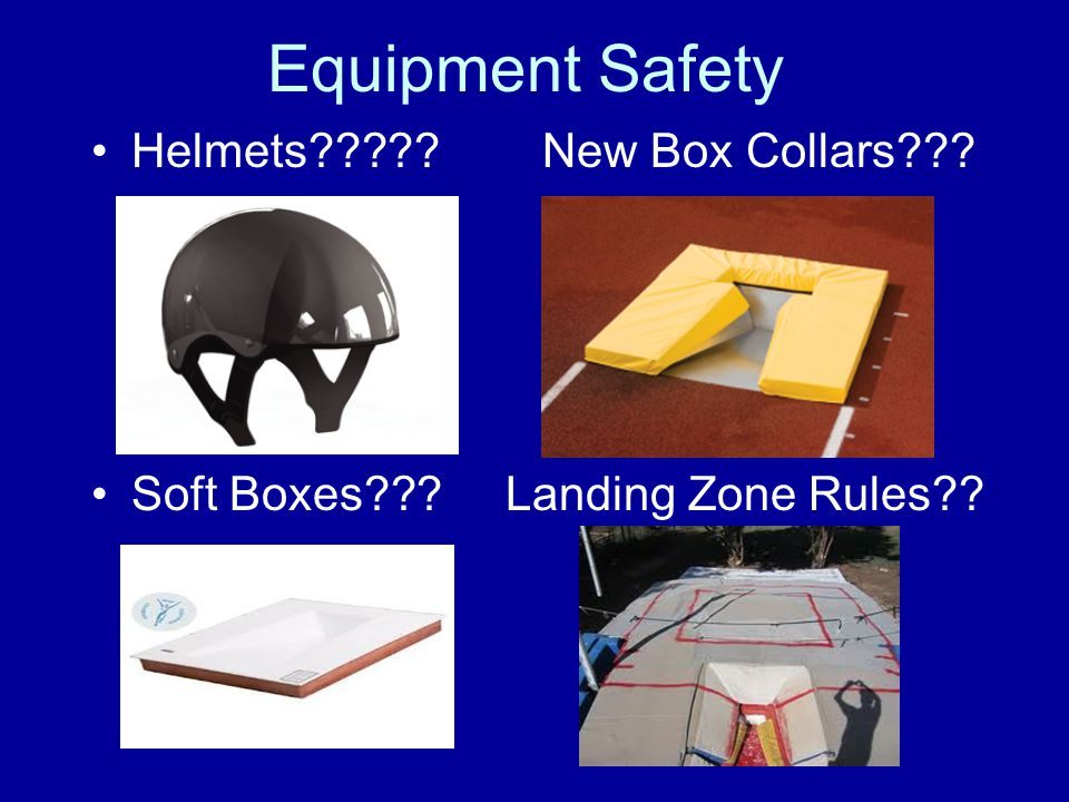 Equipment Safety Helmets New Box Collars Soft Boxes Landing Zone Rules