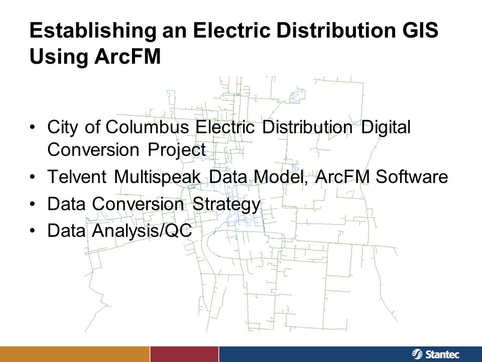 Telvent Multispeak Data Model, ArcFM Software Advantages of using ArcFM software (vs data model alone) –Ability to perform more complex analyses and better QC (e.g.