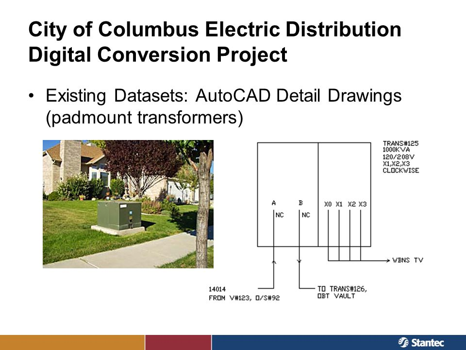 City of Columbus Electric Distribution Digital Conversion Project Existing Datasets: AutoCAD Detail Drawings (padmount transformers)