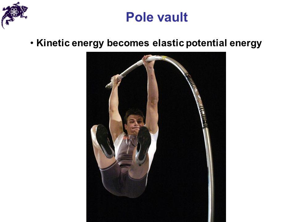 Pole vault Kinetic energy becomes elastic potential energy