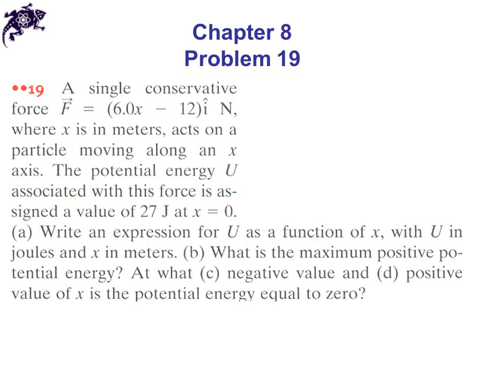 Chapter 8 Problem 19