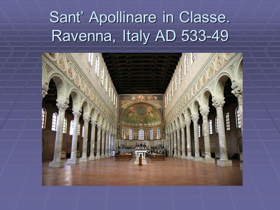 Sant' Apollinare in Classe. Ravenna, Italy AD 533-49