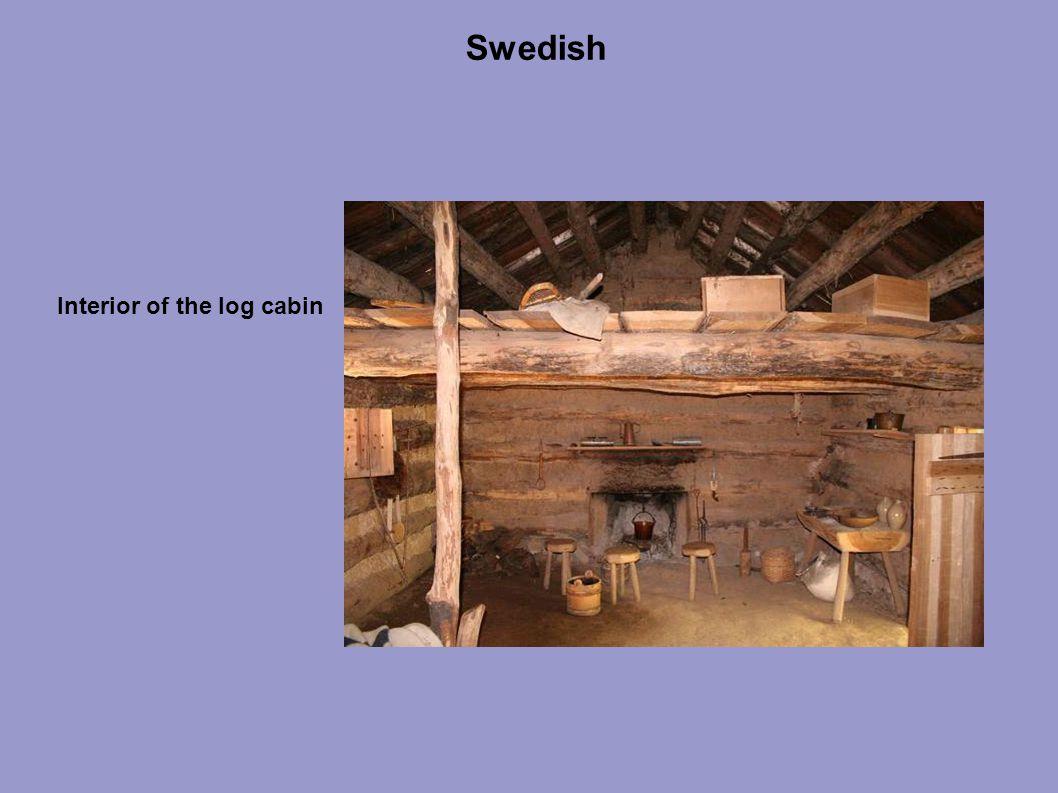 Swedish Interior of the log cabin